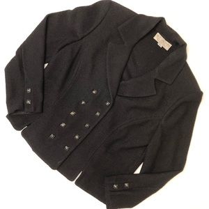 Vintage ST. JOHN black knitted blazer buttons 8